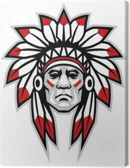 Canvas Indian chief
