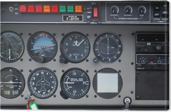 Canvas Instrumentatie, cockpit, vlucht