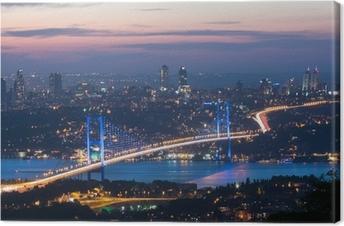Canvas Istanbul in de nacht