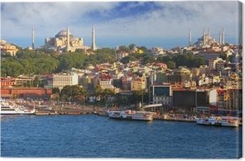 Canvas Istanbul vanaf de Galata toren, Turkije