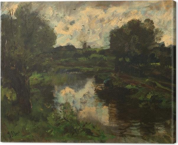 Canvas Jacob Maris - Jezero po bouři - Reproductions
