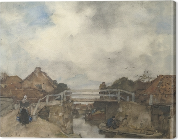 Canvas Jacob Maris - Kanál v Rijswijku - Reproductions