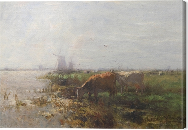 Canvas Jacob Maris - Pastvina - Reproductions