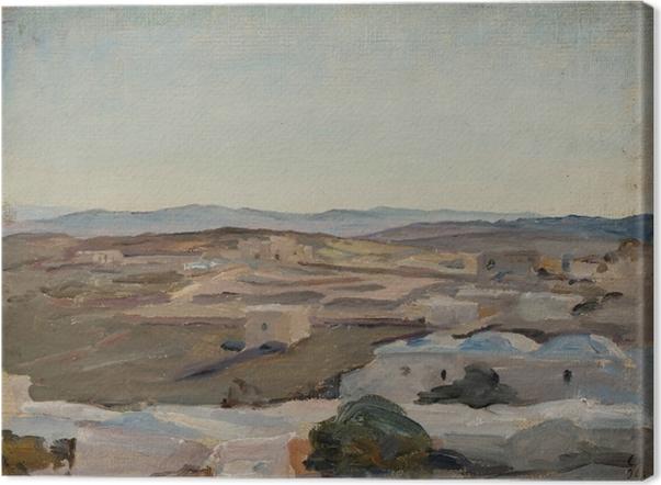 Canvas Jan Ciągliński - Ramallah u Jeruzaléma. Z výletu do Palestiny - Reproductions