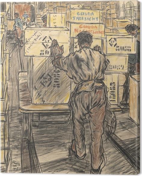 Canvas Jan Toorop - Továrna svíček v Goudě, 4 - Reproductions
