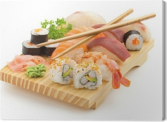 Canvas Japanse sushi plaat