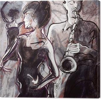 Canvas Jazz band met dansers