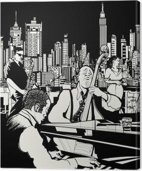 Canvas Jazz band spelen in New York