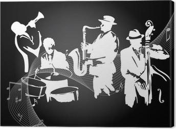 Canvas Jazzconcert zwarte achtergrond