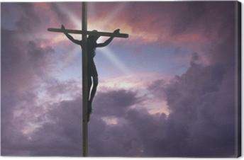 Canvas Jezus Christus aan het kruis