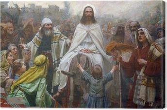 Canvas Jezus op Palmzondag