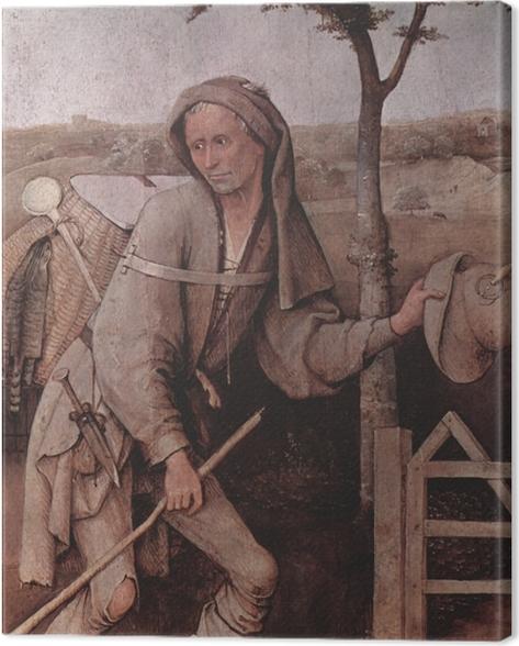 Canvas Jheronimus Bosch - De marskramer - Reproductions