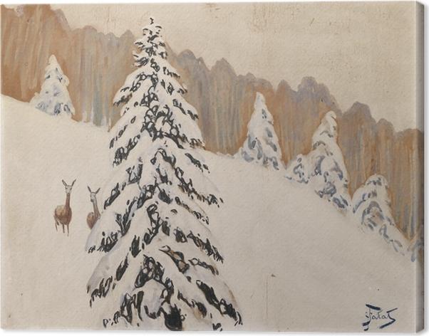 Canvas Julian Fałat - Zima - Reproductions
