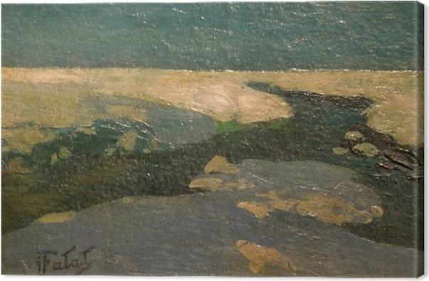 Canvas Julian Fałat - Zimní krajina - Reproductions