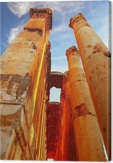 Canvas Jupiter's tempel over blauwe hemel, Baalbek, Libanon