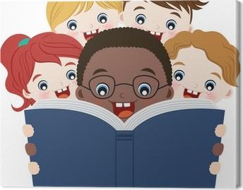 Canvas Kinderen het lezen van boeken