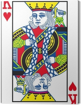 Canvas King of Hearts