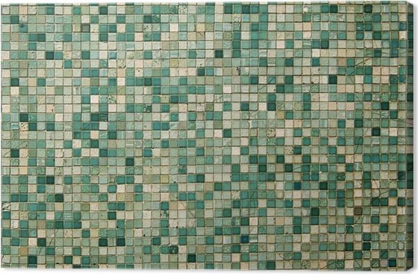 Groene Mozaiek Tegels : Canvas kleine groene mozaïektegels u2022 pixers® we leven om te veranderen