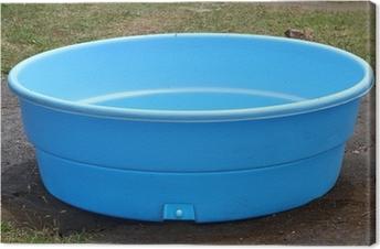 Canvas Kleine plastic zwembad
