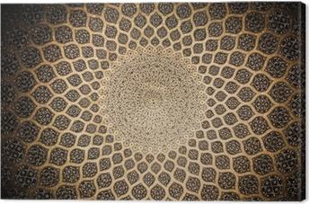 Canvas Koepel van de moskee, oriëntaalse ornamenten uit Isfahan, Iran