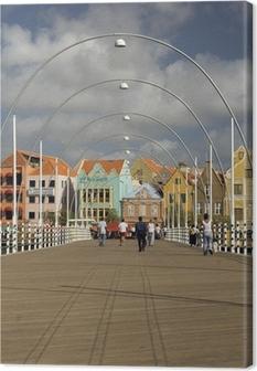 Canvas Koningin Emma ponton brug Willemstad, Curaçao