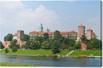 Canvas Koninklijk kasteel in Wawel heuvel, Krakau, Polen