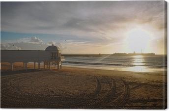 Canvas La Caleta bij zonsondergang