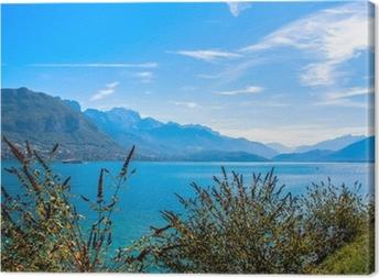 Canvas Lake in Frankrijk in de buurt van Annecy stad