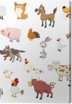 Canvas Landbouwhuisdieren instellen