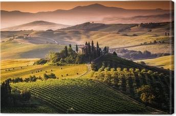 Canvas Landschap, Toscane - Italië