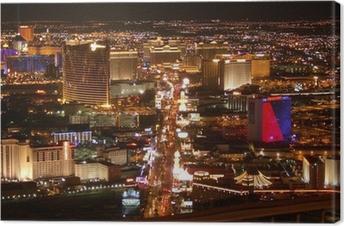 Canvas Las Vegas Strip bij Nacht
