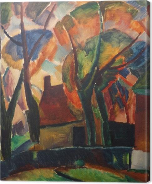Canvas Leo Gestel - Farma v Beemsteru - Reproductions
