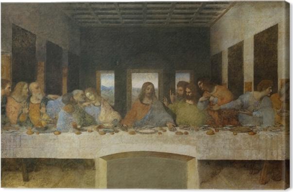 Canvas Leonardo da Vinci - Het Laatste Avondmaal - Reproducties
