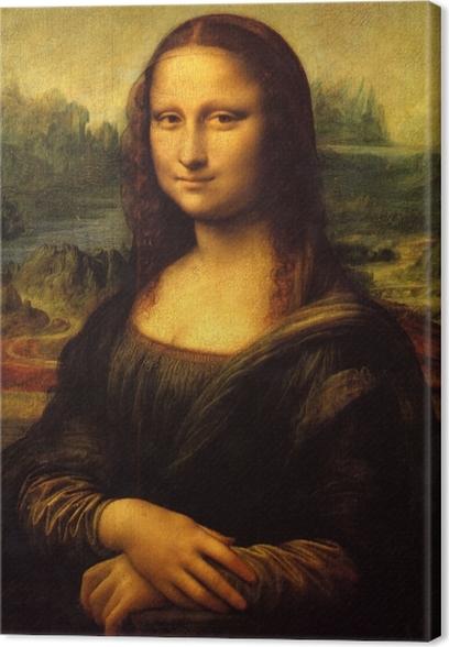 Canvas Leonardo da Vinci - Mona Lisa - Reproducties