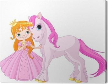 Canvas Leuke Prinses en Eenhoorn