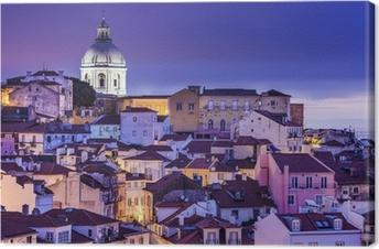 Canvas Lissabon, Portugal Horizon bij Alfama