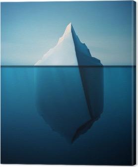 Canvas Lonely Iceberg