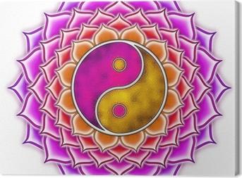Canvas Lotus Yin Yang