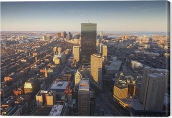 Canvas Luchtfoto van Boston