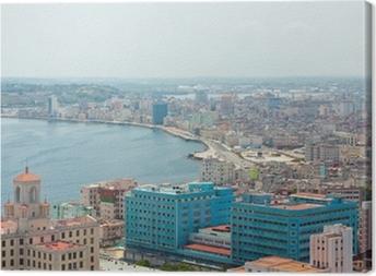 Canvas Luchtfoto van de Havana kust