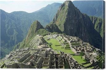 Canvas Machu Picchu in de buurt van Cusco, Peru.