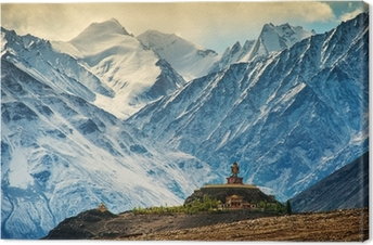 Canvas Maitreya op Floppy klooster, Ladakh, India