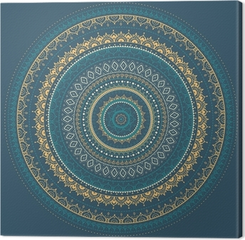 Canvas Mandala. Indiase decoratief patroon.
