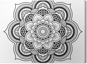 Canvas Mandala. Rond Ornament Patroon