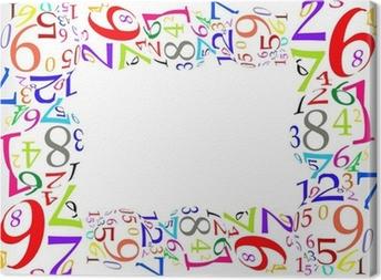 Canvas Marco de números de colores