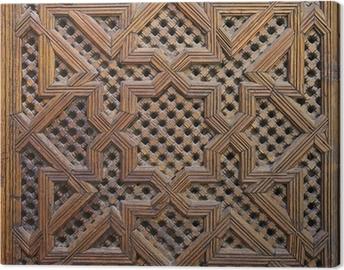 Canvas Marokkaanse Cederhout Arabesque Carving