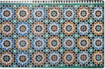 Canvas Marokkaanse vintage tegel achtergrond