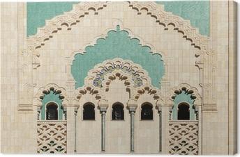 Canvas Marokko. Detail van Hassan II Moskee in Casablanca