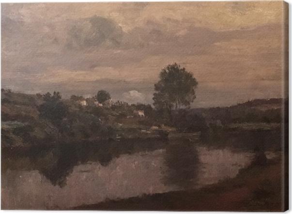 Canvas Matthijs Maris - Silueta u jezera - Reproductions