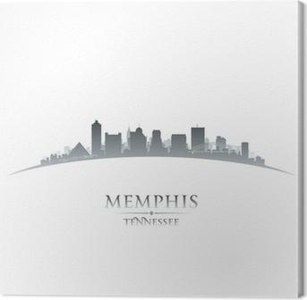 Canvas Memphis Tennessee skyline silhouet witte achtergrond
